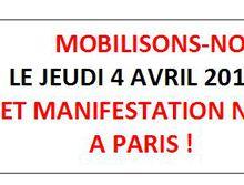 Jeudi 4 avril : MOBILISATION