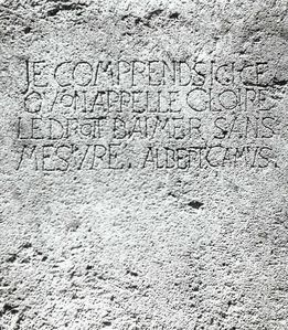 La stèle (Photo prise par Jean-Pierre Bénisti, le jour de l'inauguration)