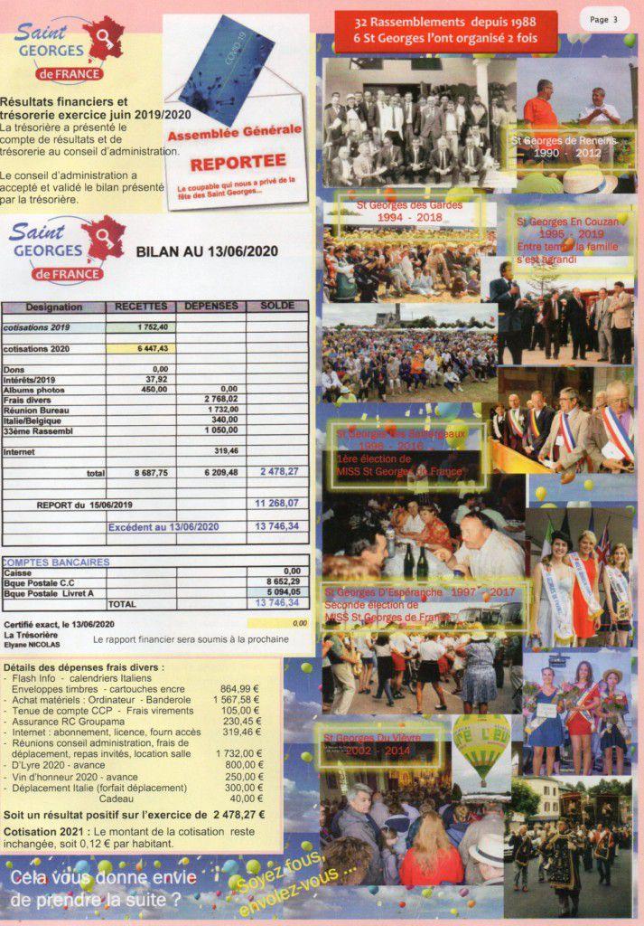 Flash info n° 33 Association nationnale des ST Georges de France.