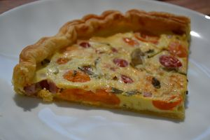 TARTES TOMATES CERISES JAMBON fromage AIL FINES HERBES