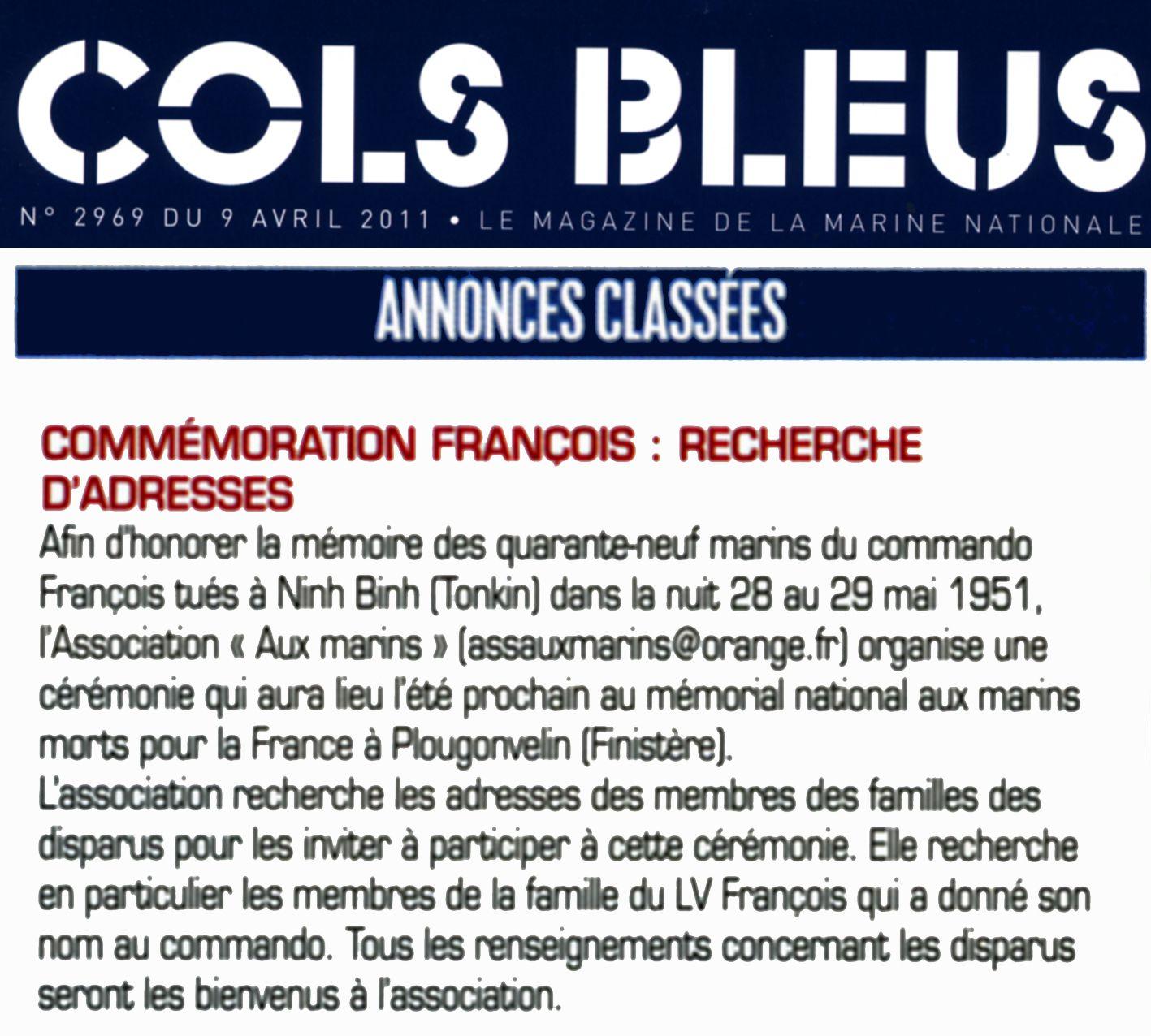 27 AOÛT 2011 - HOMMAGE AUX MARINS DU COMMANDO FRANÇOIS