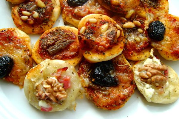 Mini Pizzas Pour l'Apéritif