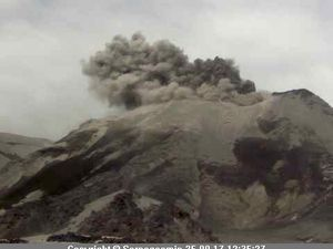 Explosive activity of the Nevados of Chillan on 24.09.2017 / 12h55 and the 25.09.2017 / 12h35 - photos Sernageomin