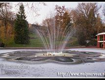 Le bassin gelé du jardin Lecoq à Clermont Ferrand ... (1/3)
