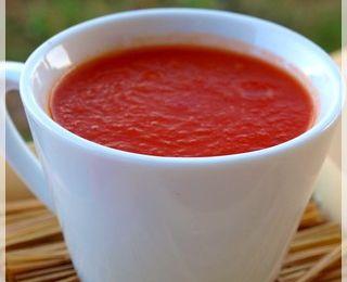 Soupe douce de tomates aux pommes