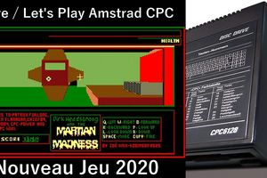 Live / Let's Play Amstrad CPC - Dirk headstrong And The Martian Madness (jeu d'action 3D - 2020)
