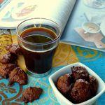 Gourmandises express avec un blanc d'oeuf et de la pâte à tartiner pour accompagner le café
