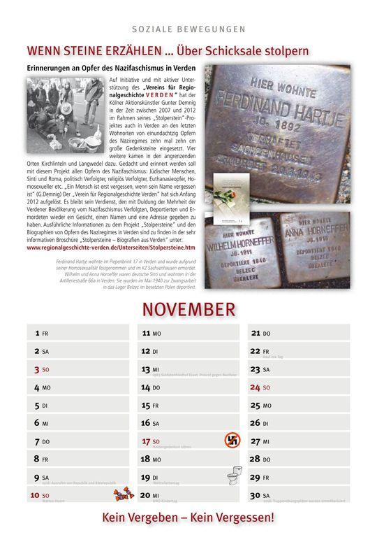Der Kalender soziale Bewegungen 2013