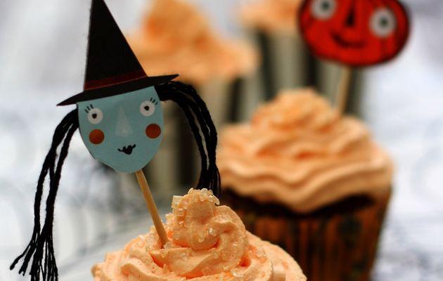 Des cupcakes au chocolat pour Halloween