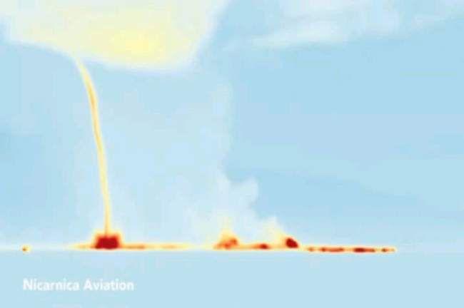 Une tornade de gaz toxiques au-dessus du volcan Bardarbunga