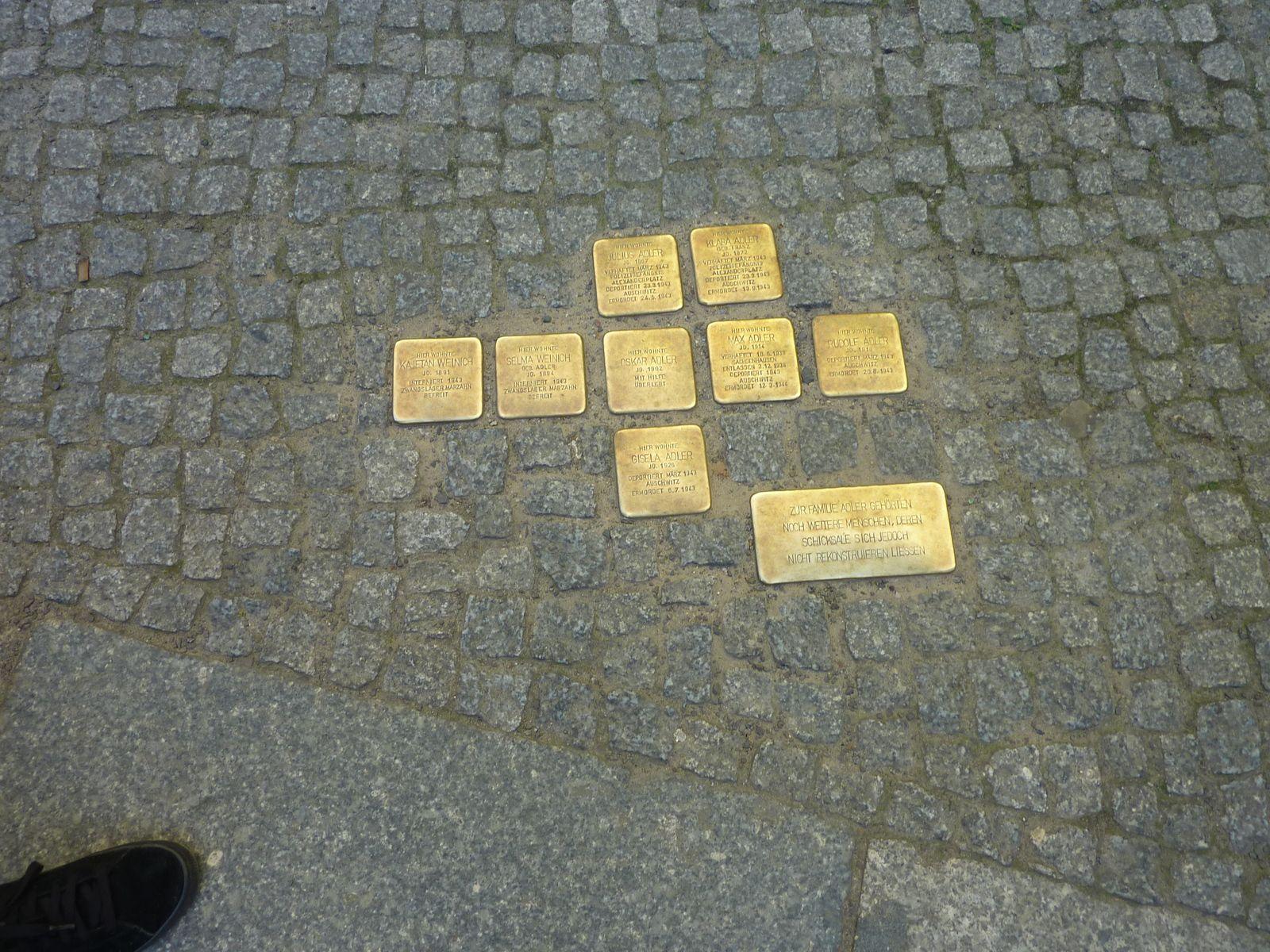 Stolpersteine à Berlin (collection personnelle)