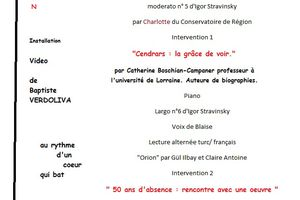 L'année Blaise Cendrars clôturée le 10 novembre 2011 au CCMQ