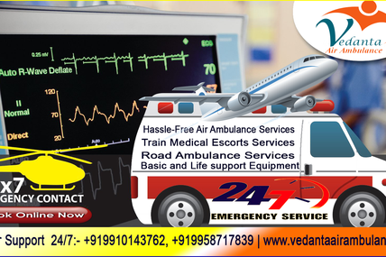 Safety of the patient during transport by Vedanta Air Ambulance in Delhi
