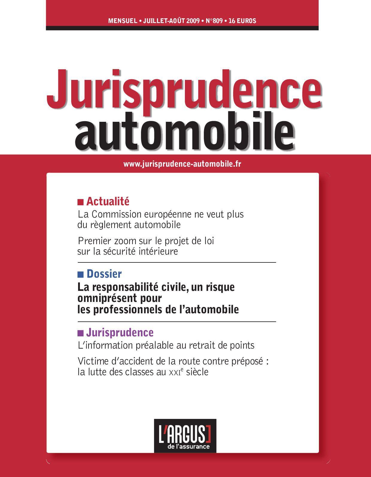 Avocat Jurisprudence automobile le Dall