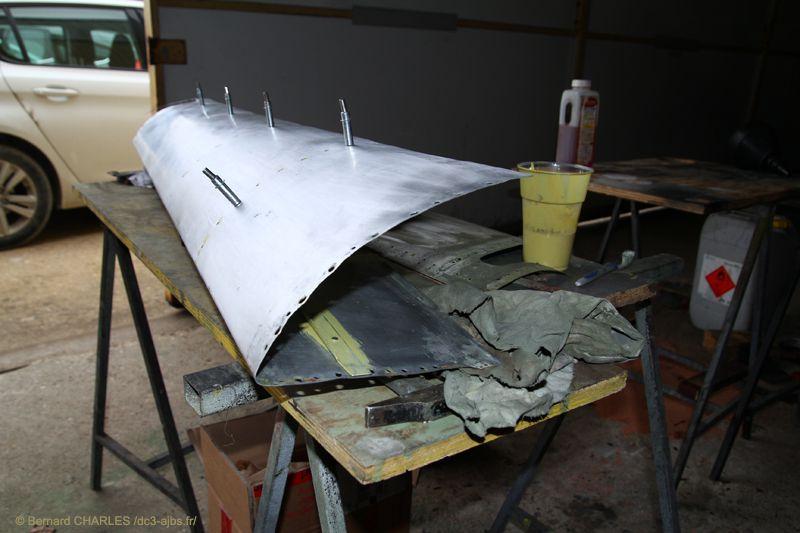 Début 2020: restauration de l'aileron droit