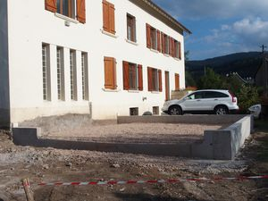 Construction du garage