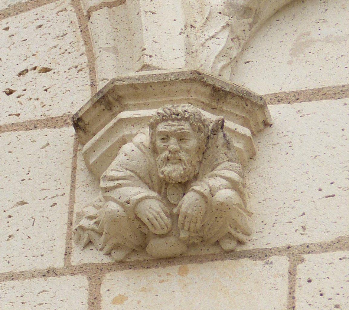 cul de lampe - cathédrale saint gervais saint protais - lectoure - clocher