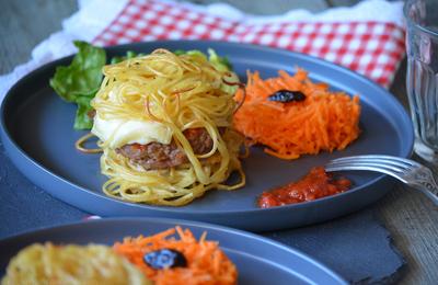 Pasta burger ou plutôt spaghetti burger