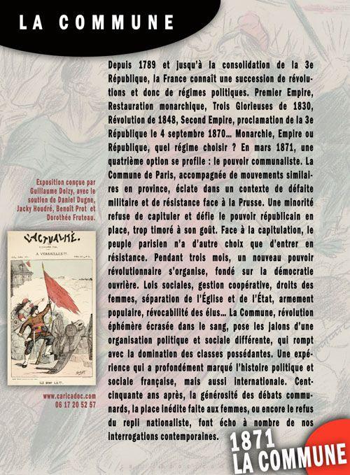 1871 La Commune, exposition itinérante à louer