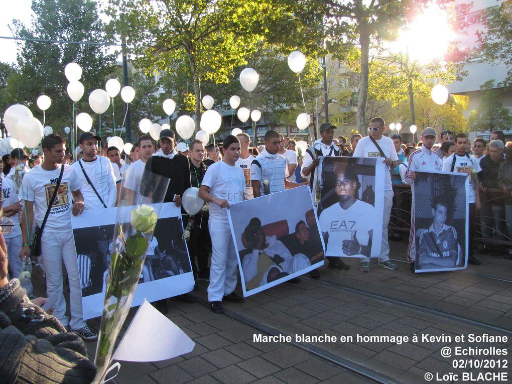 Marche blanche à Echirolles mardi 2 octobre 2012 à la mémoire de Kévin et Sofiane