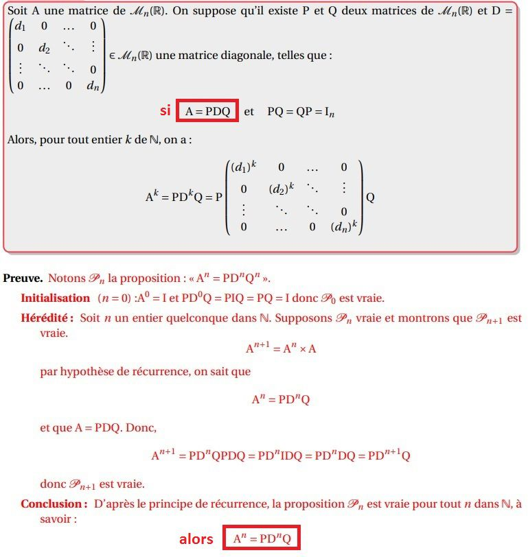 TERMINALE S Spé - Matrices - Propriété