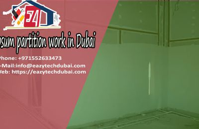 Gypsum partition contractors in Dubai for wall and ceiling | EAZY TECH Dubai 0552633473