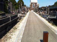"""Allée principale du cimetière de Roubaix (Photos de Khader Moulfi pour """"Sauvons Roubaix"""" !!!"""