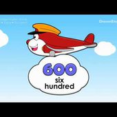 Learn Big Numbers 100, 200, 300 up to 1000 Little Flyers