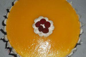 Gâteau aux amandes et pêches
