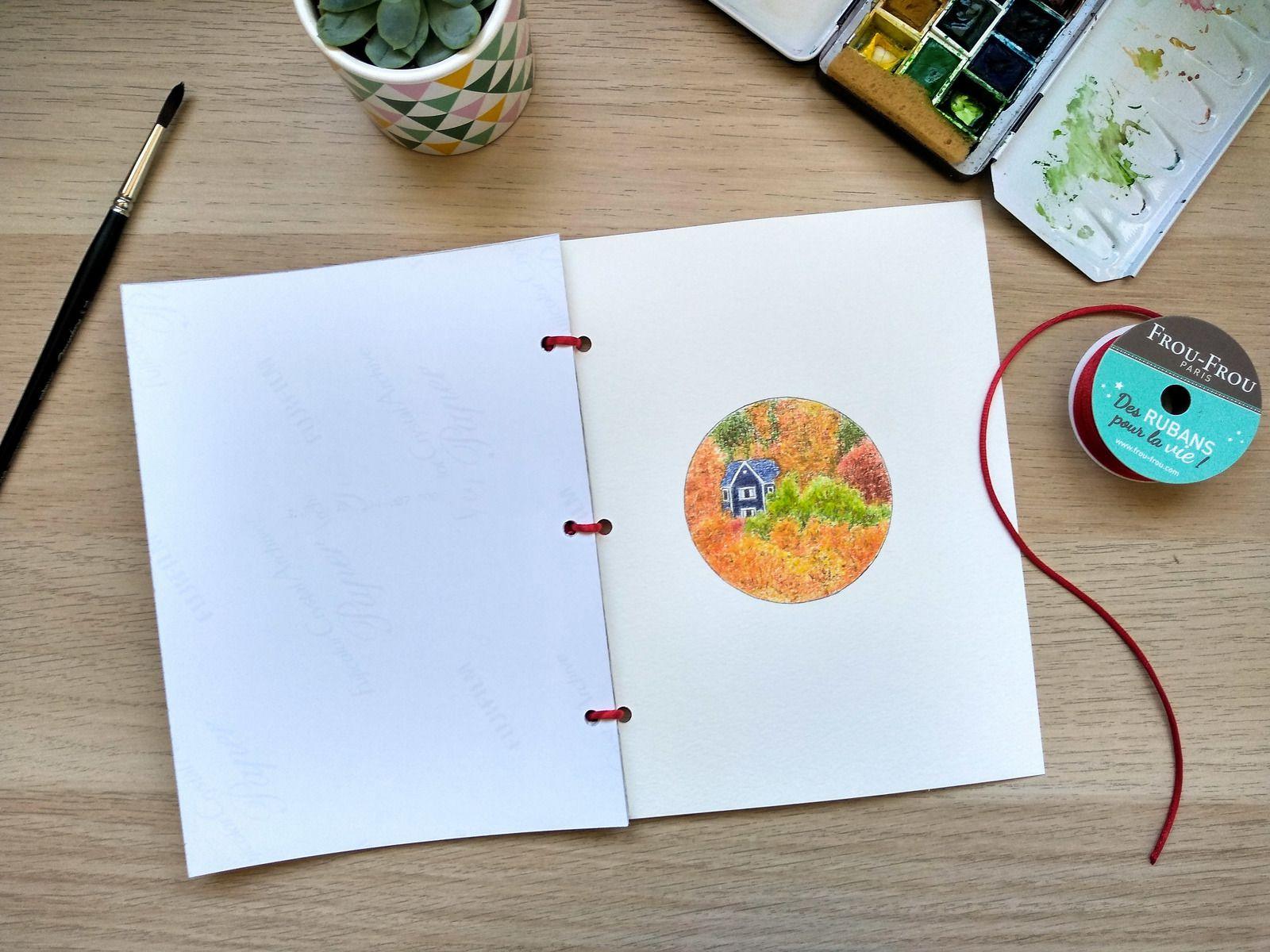 Plusieurs techniques ont été utilisées : encre, crayons et aquarelle... Format du livret : 15x20cm