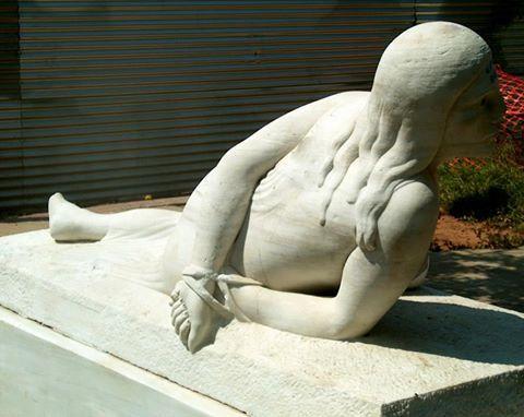 "Sculpture de Costas Seferlis ""Epire du Nord"" Γλυπτό του Κώστα Σεφερλή «Βόρειος Ήπειρος» (1951)"