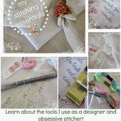 Jenny of ELEFANTZ: Supplies - the things I use when I stitch...
