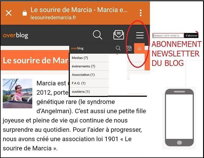"""Inscrivez-vous à la Newsletter du site """"Le Sourire de Marcia"""""""