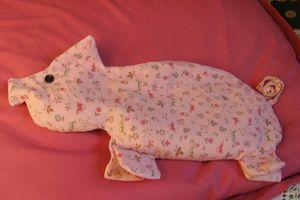Gédéon le cochon bouillotte ou déco