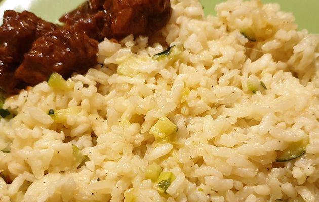 Risotto au curry léger et courgettes