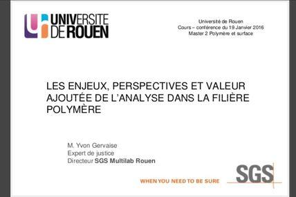 Texte notre cours - conference à Universite de Rouen du 19 Janvier 2016