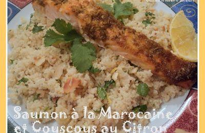 Saumon à la Marocaine et Couscous au Citron