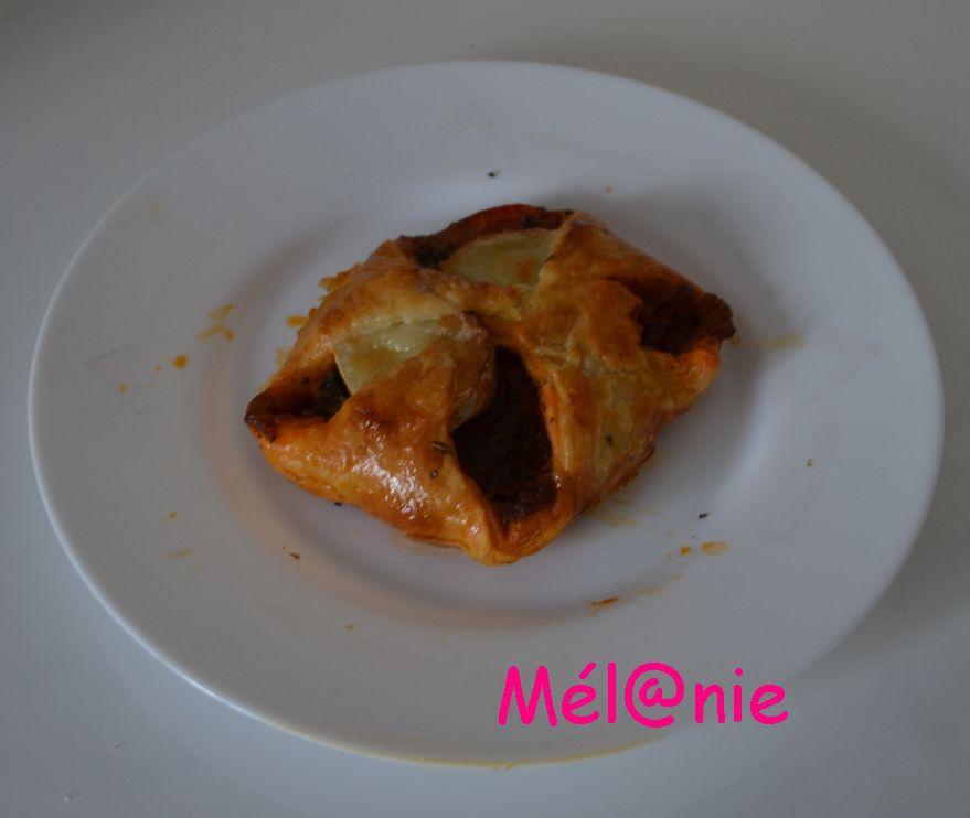 feuilletée tomate et fromage de chèvre à la provençale