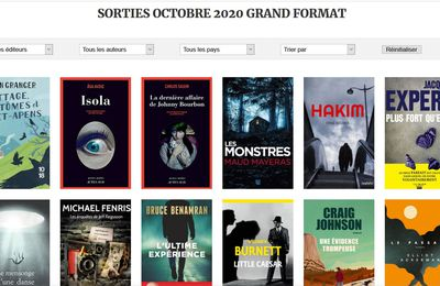 Sorties grand format d'octobre