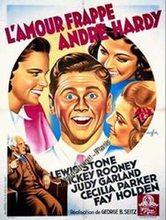 L'amour frappe André Hardy de George B. Seitz avec Mickey Rooney, Judy Garland, Ann Rutherford, Lewis Stone, Lana Turner