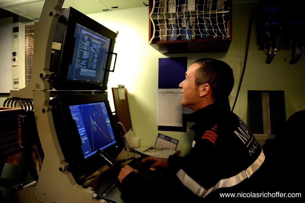À bord du Sagittaire, chasseur de mines de la Marine Nationale
