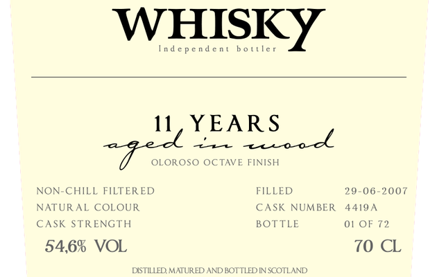 Linkwood 11Y Cask A by 3006