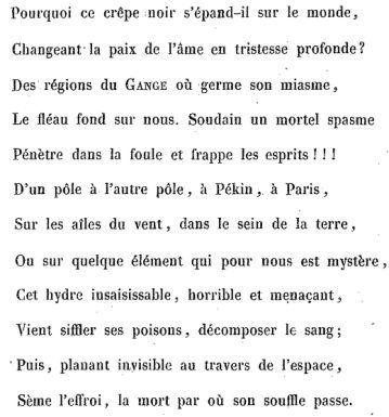 Le choléra et la peur, ou Guerre aux alarmistes (1854) - Arthur Berr de Turique.