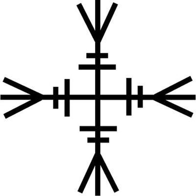 Rune germanique vibrant en positif