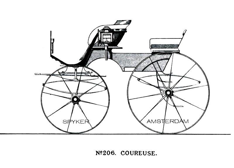 Catalogue de la carrosserie Spyker d'Amsterdam.