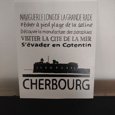 Pancarte Cherbourg