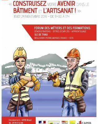 Forum des métiers et des formations - Ile de Thau - SETE - JEUDI 24 Novembre 2016