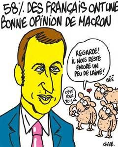 Macron fait le beau et apparemment ça marche ...
