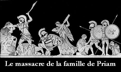 Le massacre de la famille de Priam.