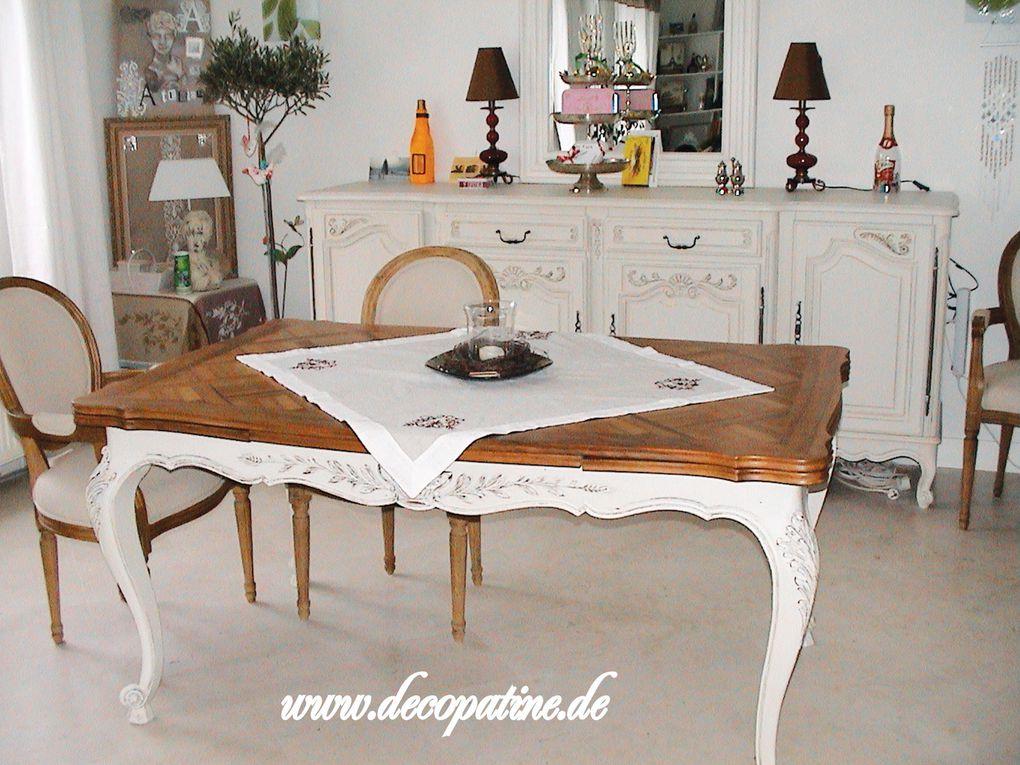 Erneuerung der Oberfläche mit antik Patina für Möbel und Wohnaccessoires